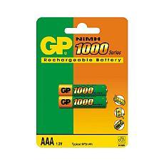 GP AAA 1000  Аккумулятор GP AAA (1000MAH) NI-MH BL-2