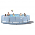 28762 Каркасный бассейн Intex Prism Frame Pool (732 х 132 см)   фильтрующий картриджный насос   аксессуары