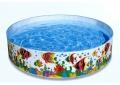 """Детский панельный бассейн  """"Солнечные рыбки"""" 244 х 46 см"""