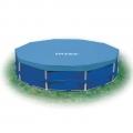 28030  Покрывало (тент) для круглых каркасных бассейнов (305 см) Intex