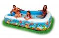 Надувной семейный бассейн ванна с рыбками 305х183х56см от 6лет 1092 л.