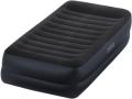 64422 Односпальная надувная кровать Intex Pillow Rest Raised Bed   встроенный электронасос
