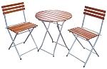 HFS-002  Стол и 2 стула  кемпинговый раскладной туристический, комплект (сталь, дерево)