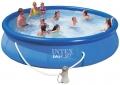 28158 Надувной бассейн Intex Easy Set Pool (457 х 84 см)   фильтрующий картриджный насос