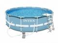 Круглый каркасный бассейн Intex 366x98 см с фильтром и лестницей