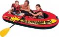 58357 Лодка надувная Explorer 200 Pro (120кг.) 196х102х33см с пластик. веслами и насосом, от 6лет