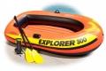 58358 Трёхместная надувная лодка Intex Explorer Pro 300 Set   пластиковые вёсла и насос