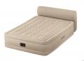 64460 Двуспальная надувная кровать Intex Headboard Bed   встроенный электронасос