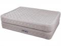 66962 Двуспальная надувная кровать Intex 66962 Supreme Air-Flow Bed  ортопедическая светло-серая 152х203х51 см со встроенным электронасосом 220В