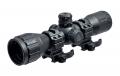 OPL Прицел оптический LEAPERS 4 x 32 Compact , Mil Dot, подсв. красн/зелён,TS, кольца (SCP-432ML1W)